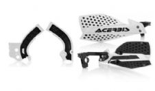 New Acerbis Frame Cover X-Grip YZF 250 450 14-17 X Ultimate HandGuards WHT BLK
